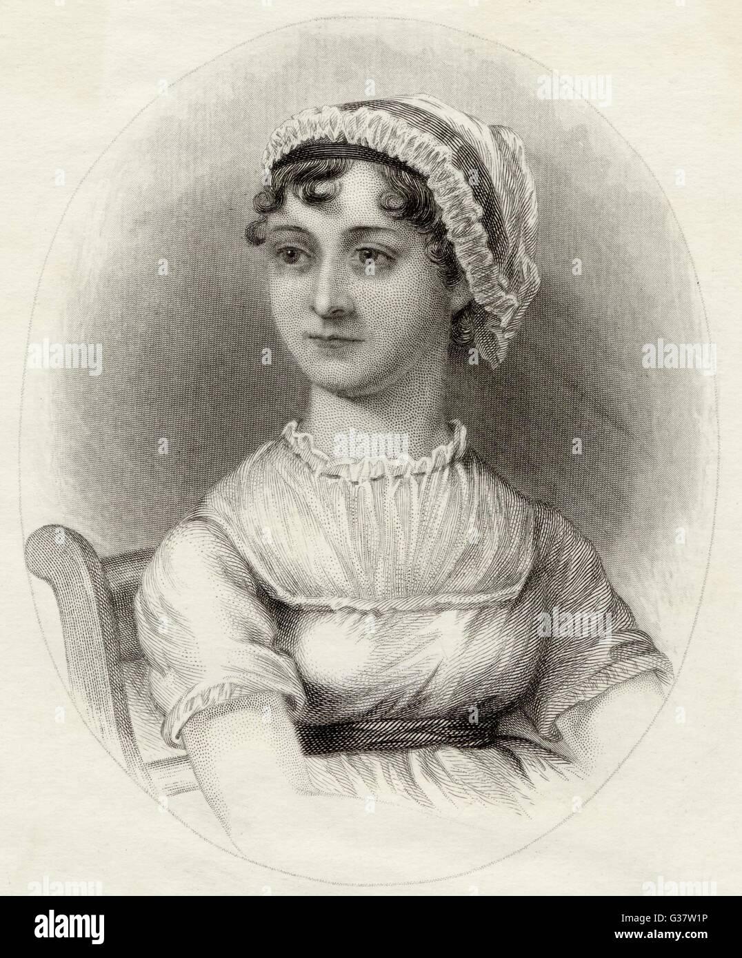 JANE AUSTEN novelista inglesa Fecha: 1775 - 1817 Imagen De Stock