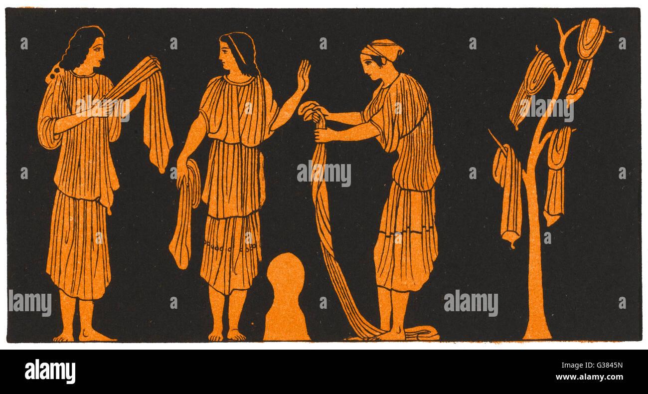 Nausicaa y sus compañeros. Imagen De Stock