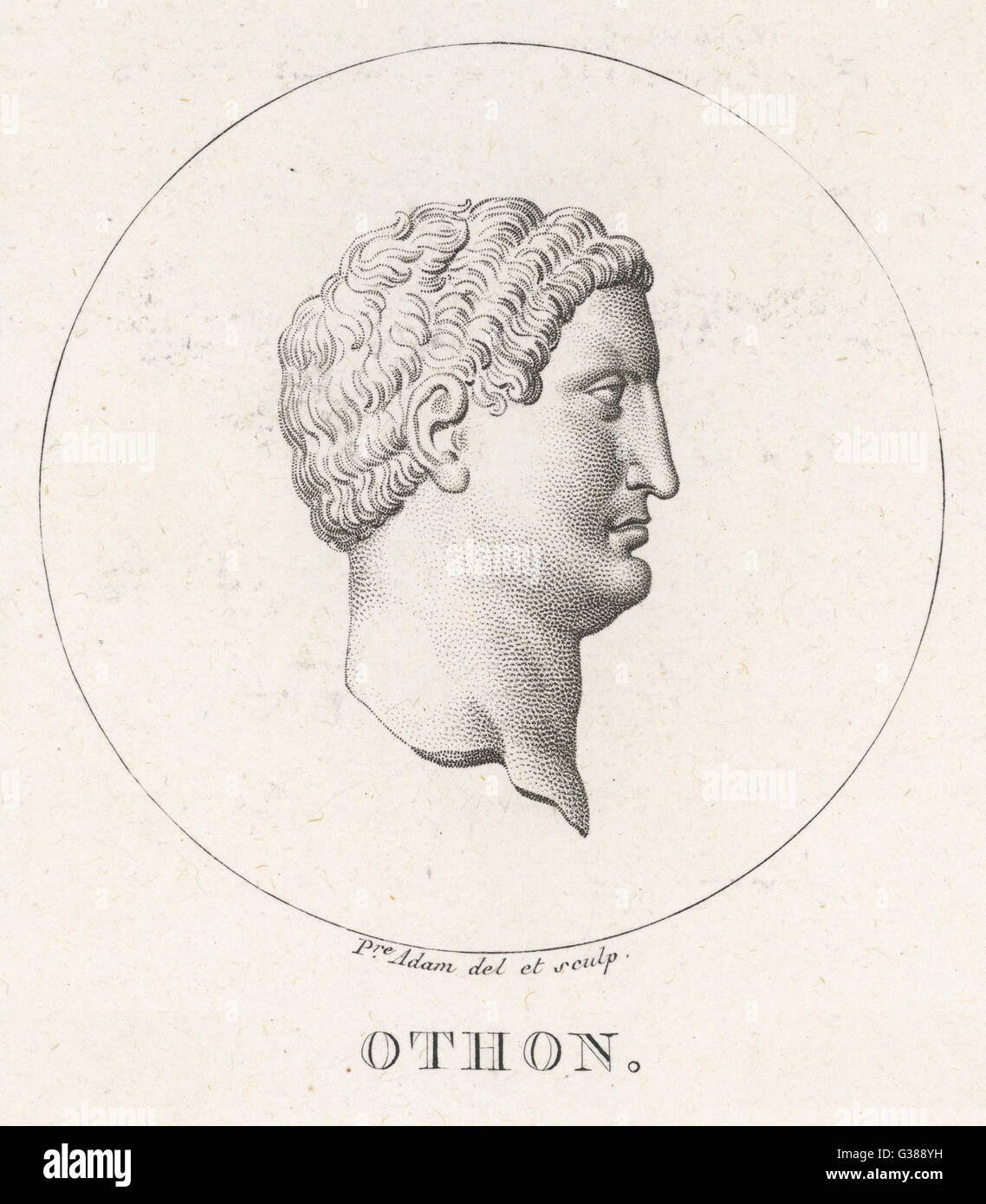 Marcus Salvius OTHO emperador romano se suicidó Fecha: 32 - 69 Imagen De Stock