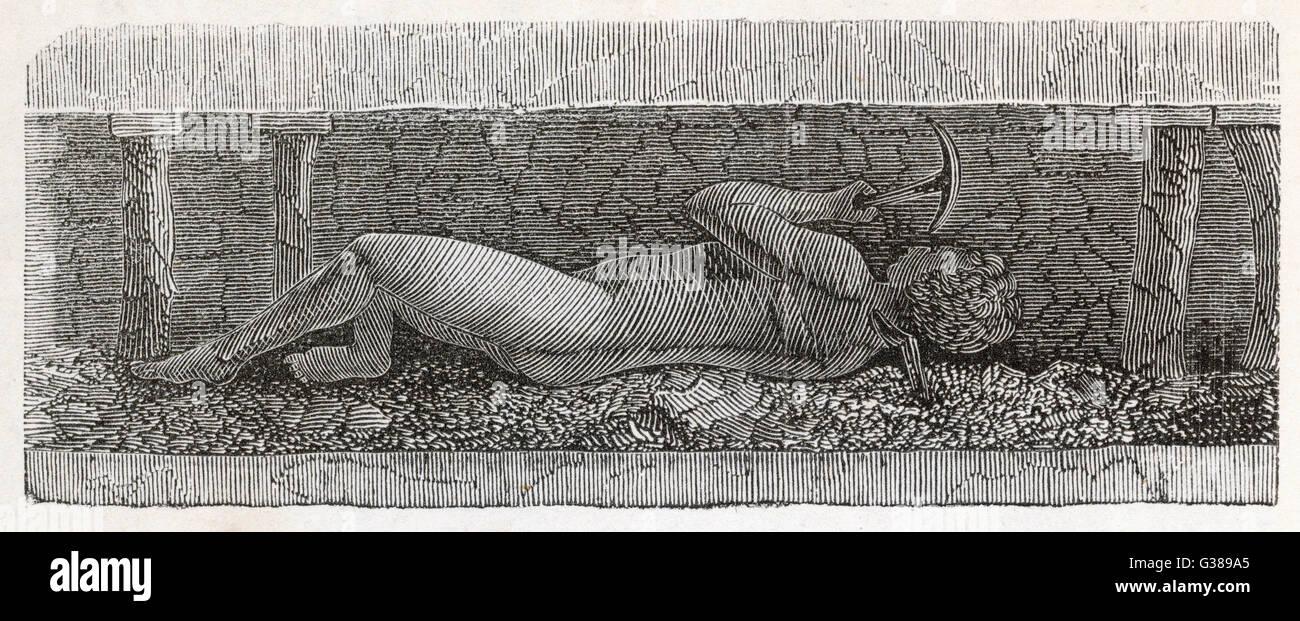 Joven trabajando una costura bajo '18 es la edad en la que los muchachos podían 'get' el carbón, Imagen De Stock