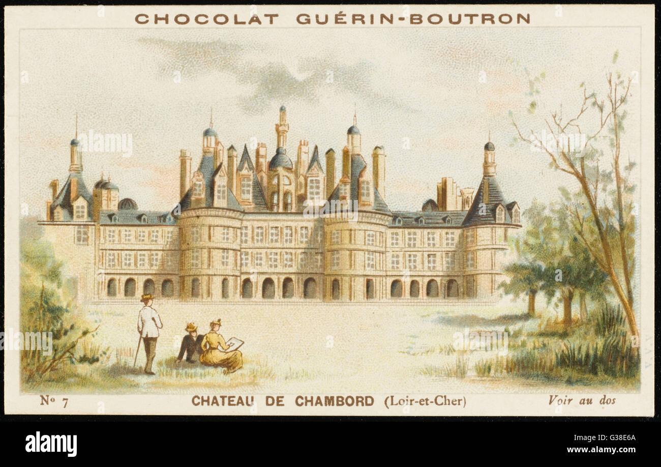 Château de Chambord (Loir-et-Cher) Fecha: circa 1890 Imagen De Stock