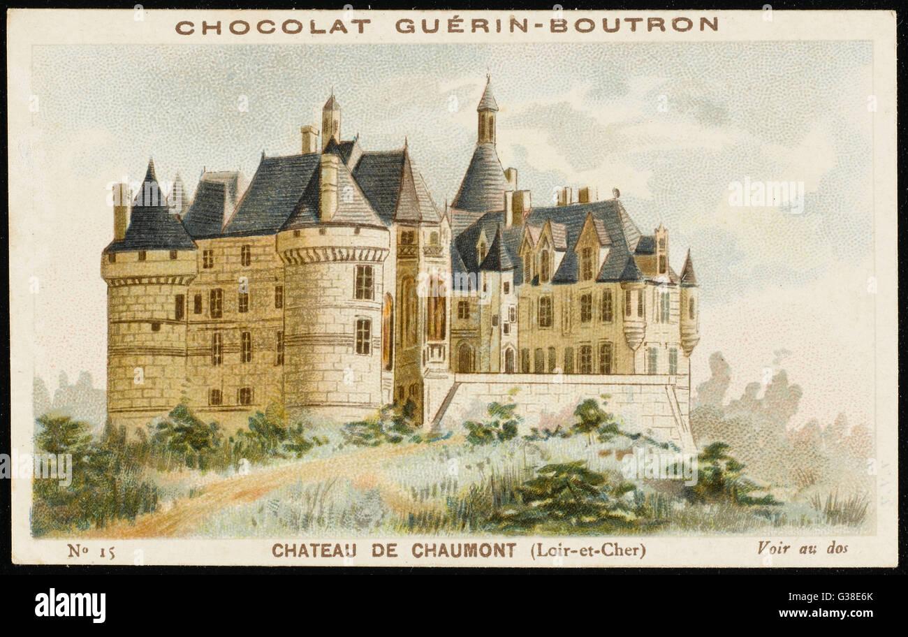 Chateau de Chaumont (Loir-et-Cher) Fecha: circa 1890 Imagen De Stock