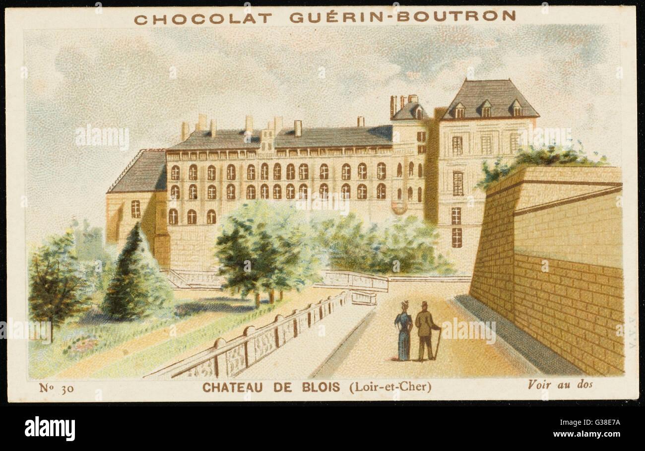 Château de Blois (Loir-et-Cher) Fecha: circa 1890 Imagen De Stock