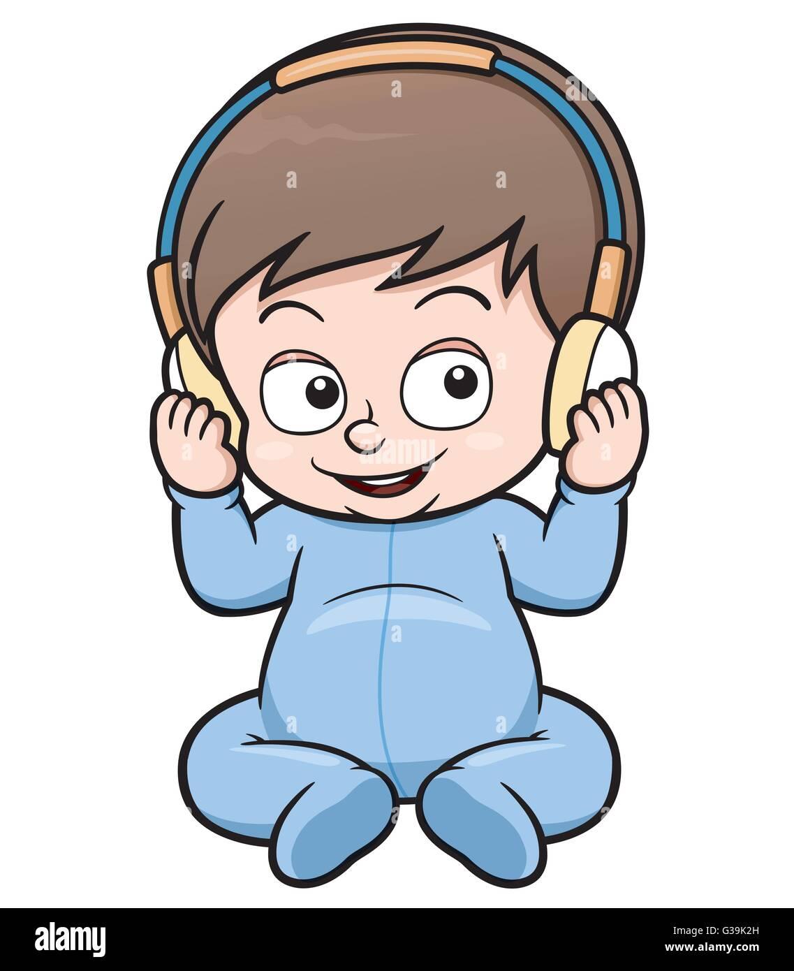 Ilustración Vectorial De Dibujos Animados Para Bebés Ilustración Del
