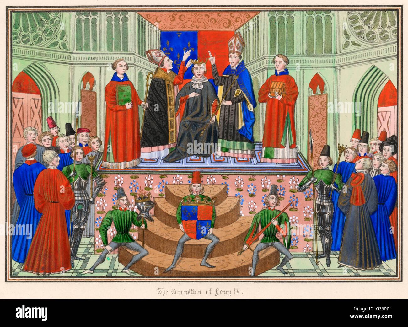 Enrique IV coronado en Westminster Fecha: 13 de octubre de 1399 Imagen De Stock