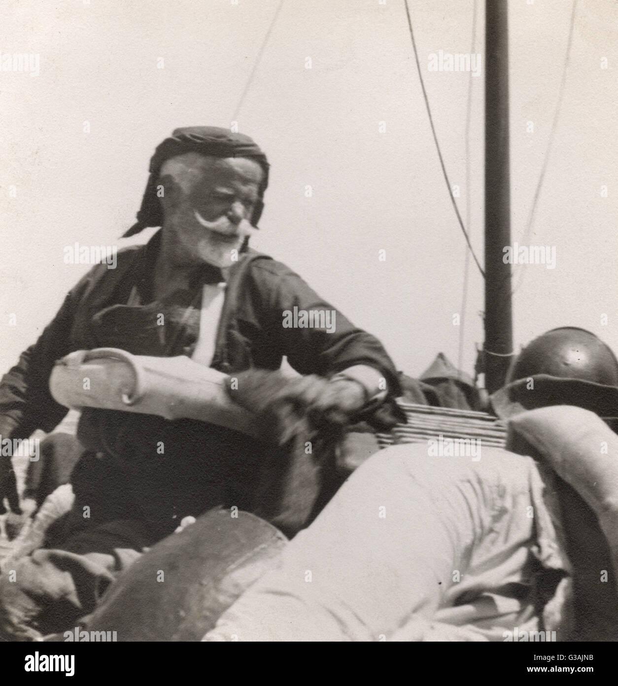 Marcos\' -líder de la resistencia cretense. Fotografía tomada por el ...