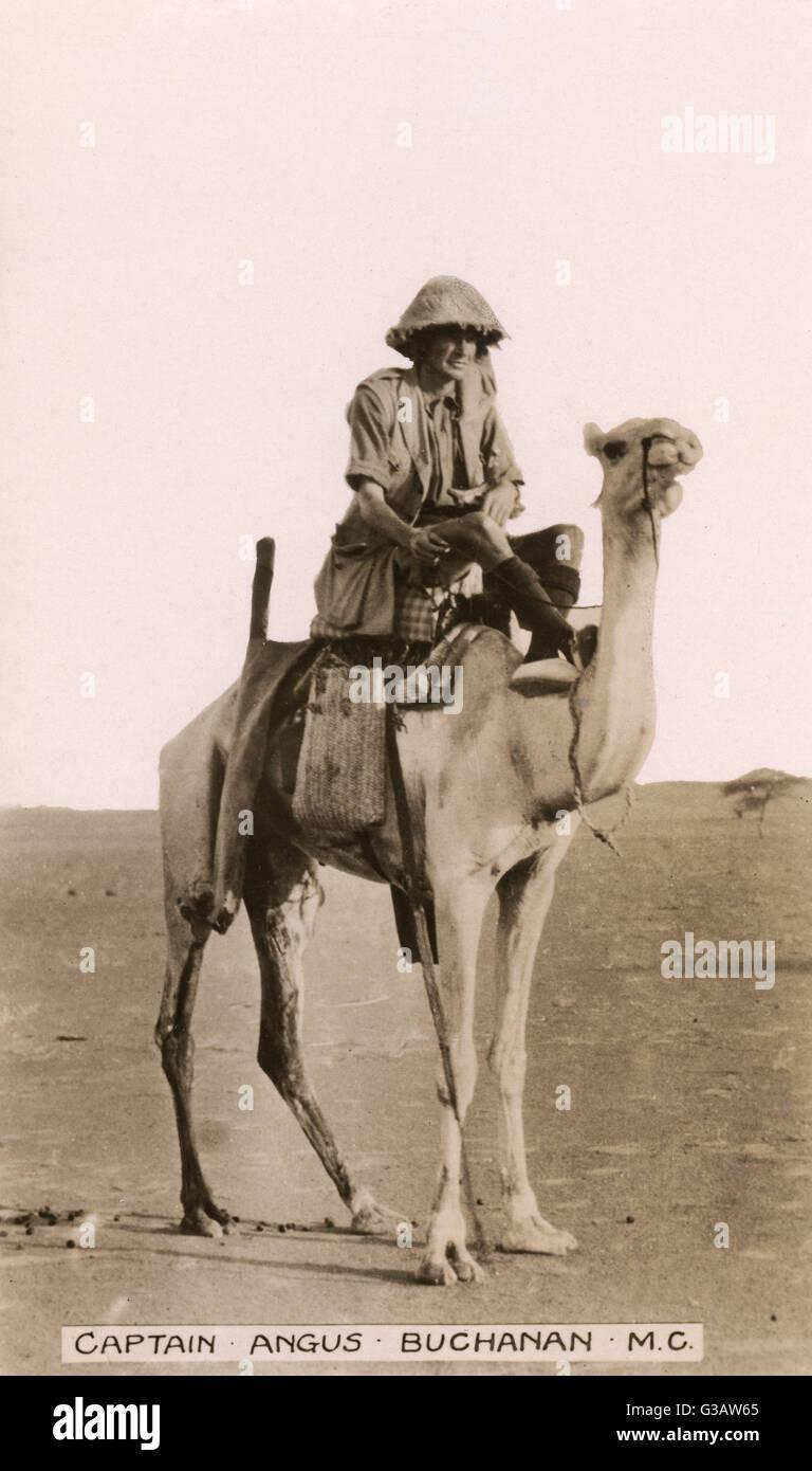 El capitán Angus Buchanan, quien lideró una expedición a la región del Sahel, en el Sáhara, en 1922-23. Una película Foto de stock
