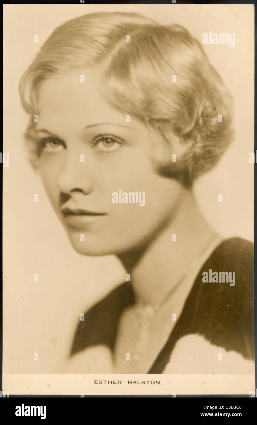 ESTHER RALSTON actriz americana en el 1920s y 30s films Fecha: 1902 - Imagen De Stock