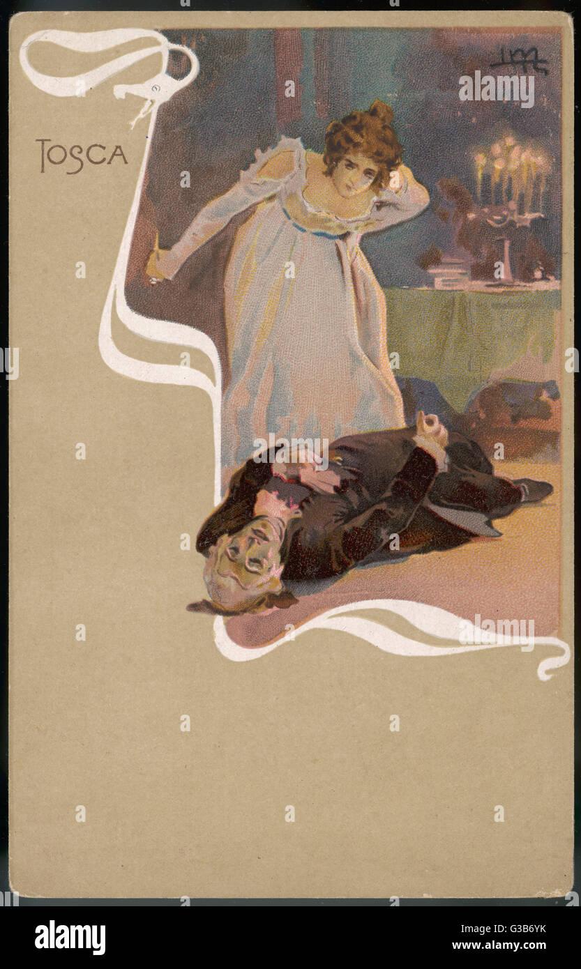 La primera producción en el Teatro Costanzi de Roma el 14 de enero de 1900, es recibida fríamente por Imagen De Stock