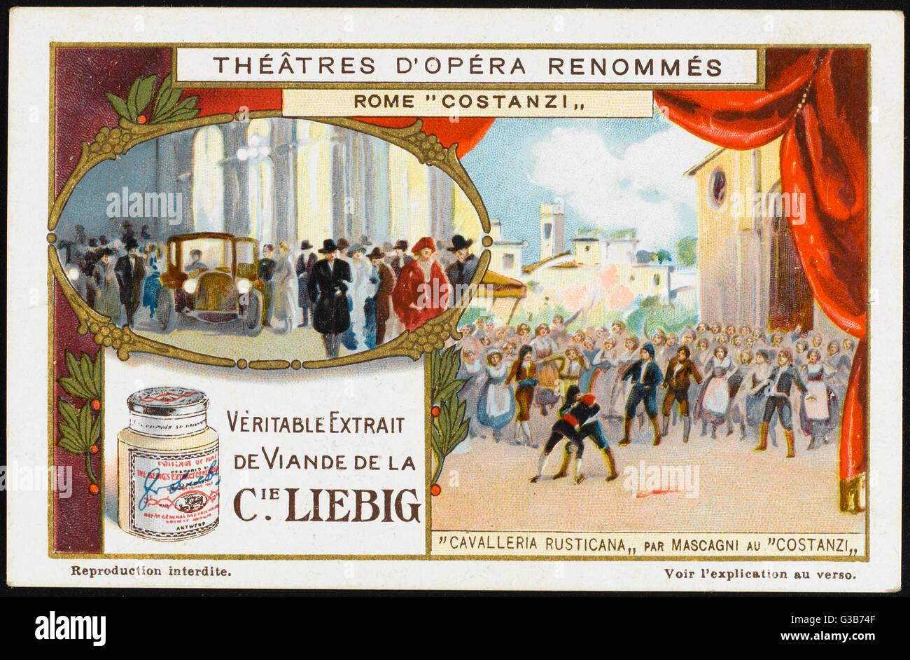 Sesenta candilejas saludar a la primera producción en el Teatro Costanzi, Roma - un éxito rotundo que Imagen De Stock