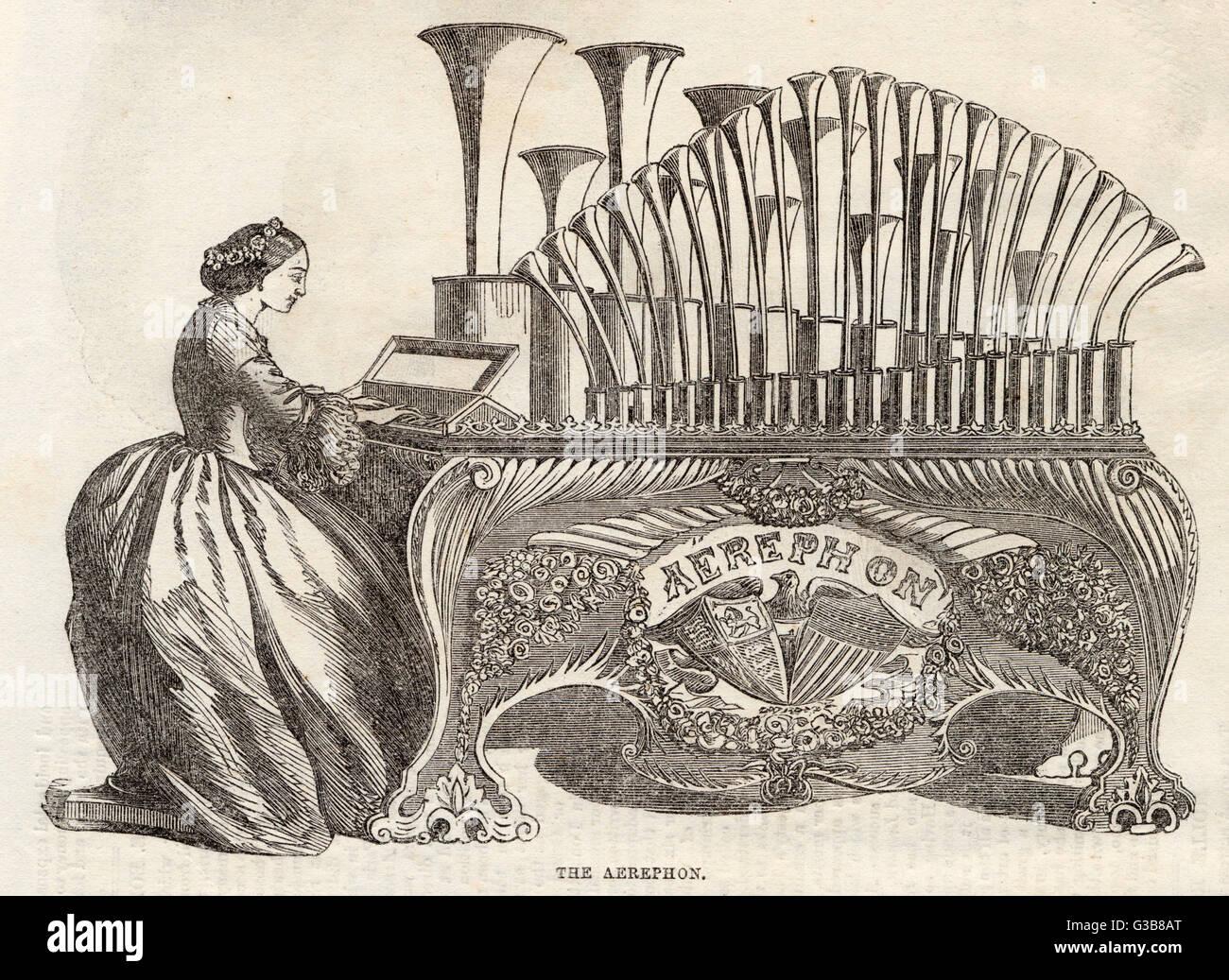 Similar al CALLIOPE, este instrumento americana es básicamente un órgano que utiliza vapor en vez del Imagen De Stock