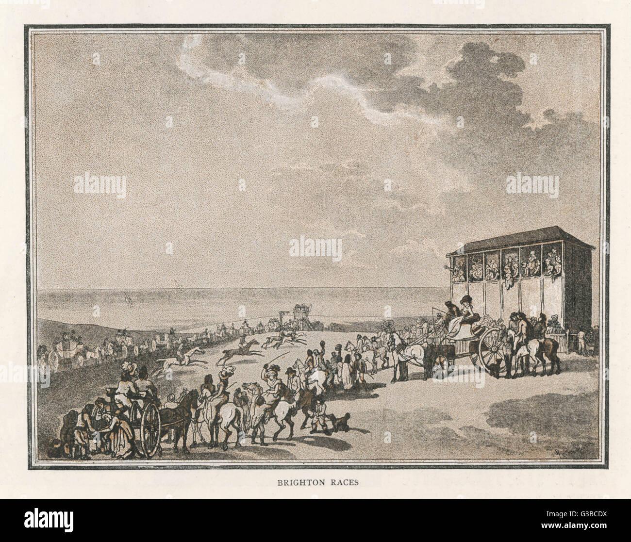 Una escena en el hipódromo de Brighton. Fecha: 1789 Imagen De Stock