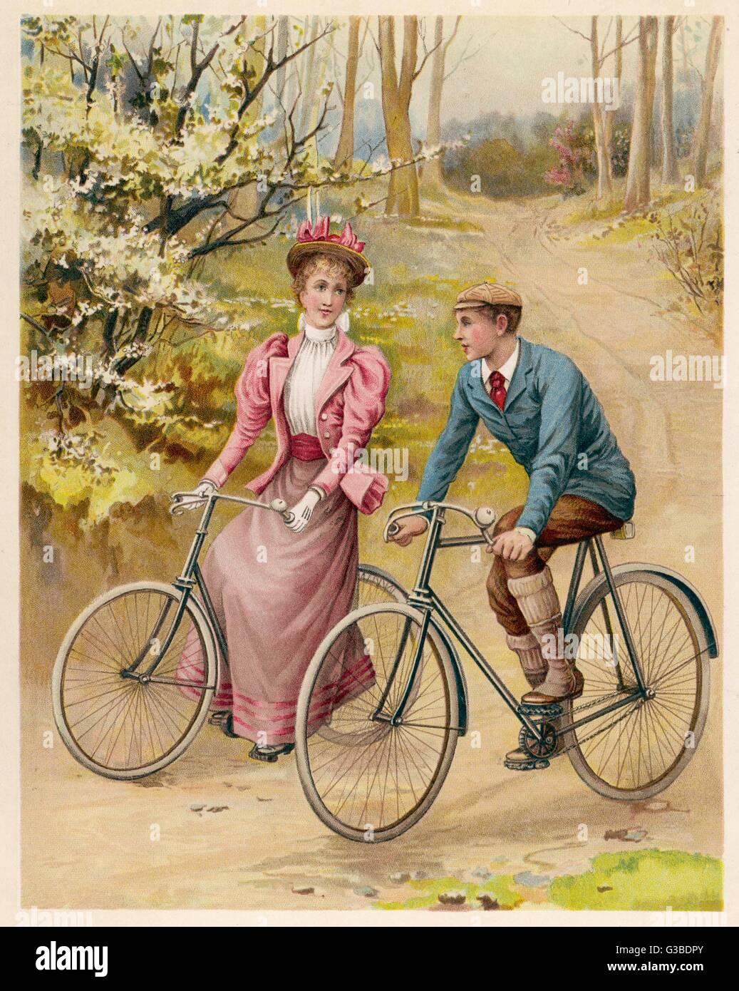 Compañeros de viaje Fecha: circa 1895 Imagen De Stock