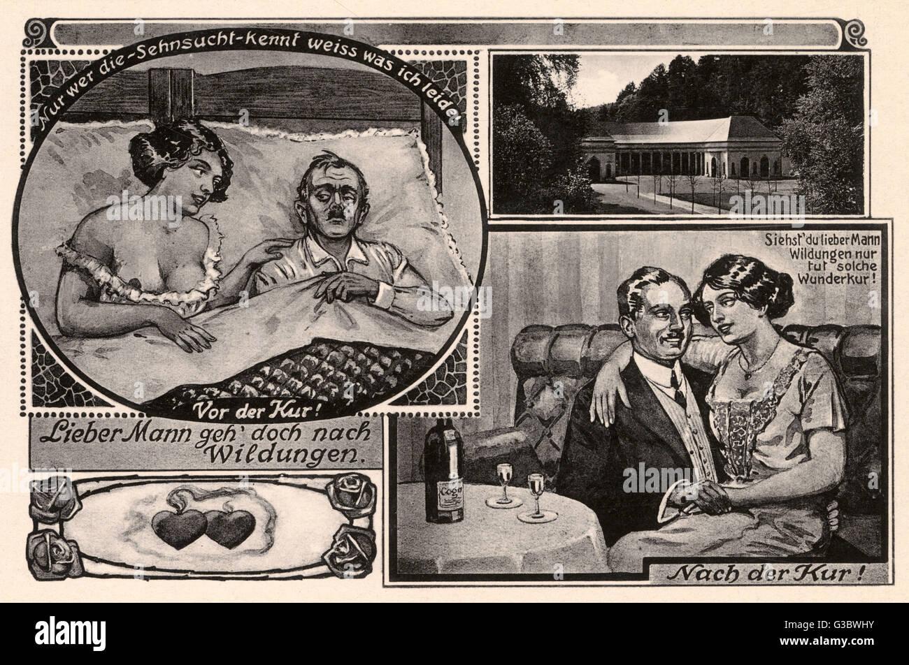 """Algo caprichosa ilustración del """"maravilloso"""" beneficios para la capacidad reproductiva del caballero Imagen De Stock"""