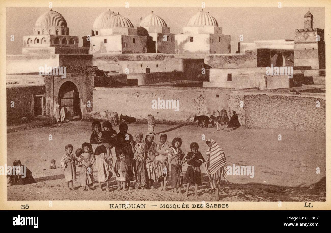 Túnez - Kairouan - mezquitas de la época otomana Sabres (también conocida como la záwiya Sidi Imagen De Stock
