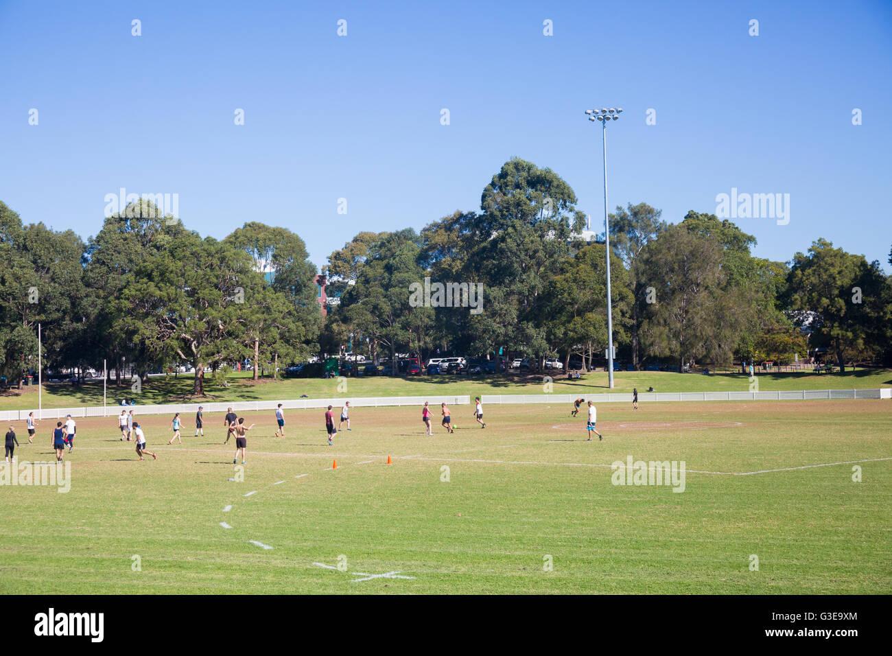 La colina de Gore deportes de campo oval en St Leonards, Sidney, Australia Imagen De Stock