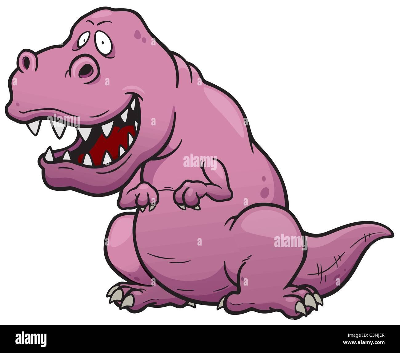 Ilustración Vectorial De Dibujos Animados De Dinosaurios T Rex