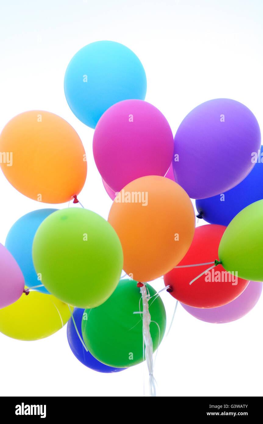 Montón de globos de colores Imagen De Stock