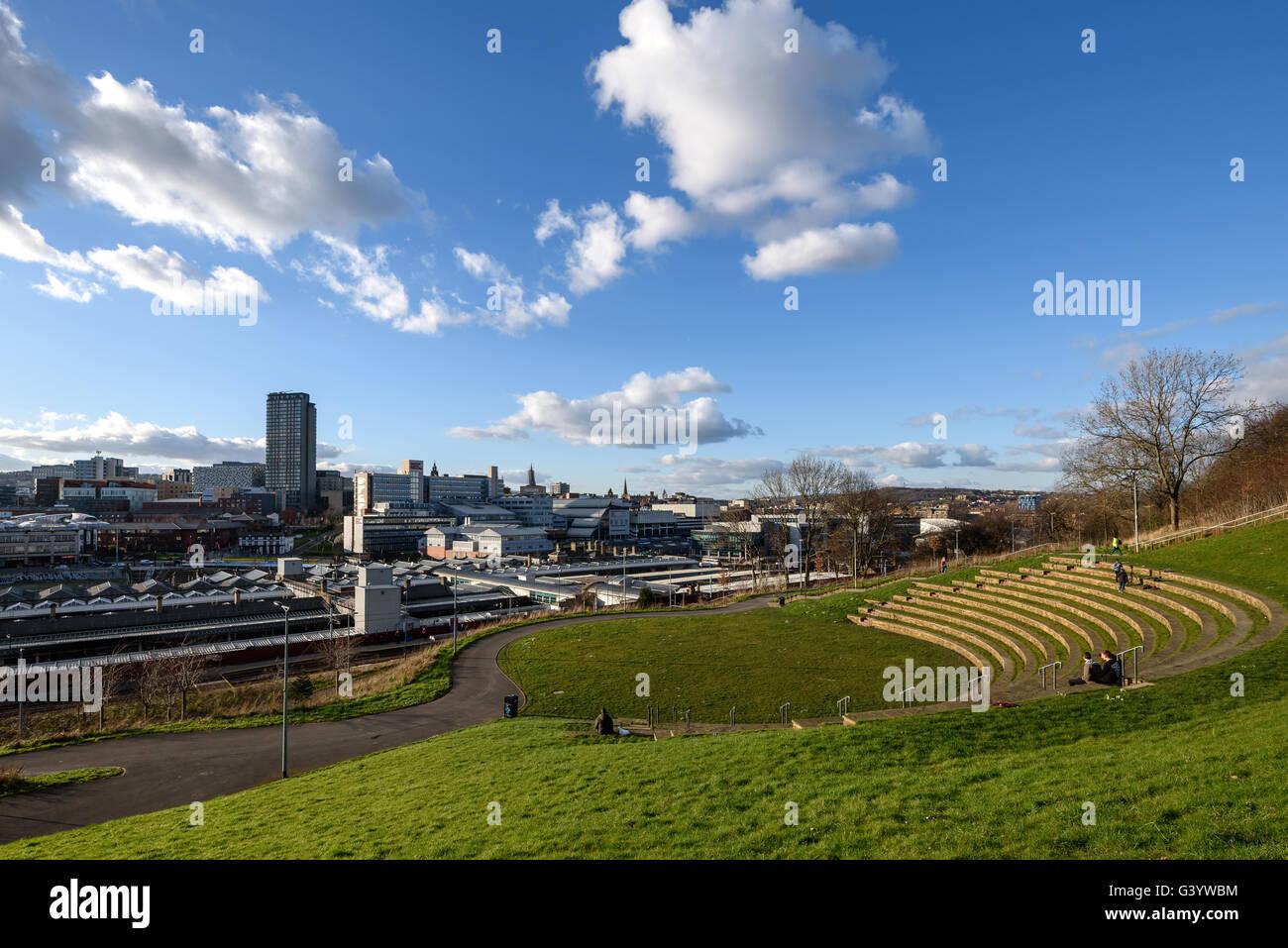 El anfiteatro en Sheffield es acoger eventos públicos en Sheffield, Inglaterra. Foto de stock