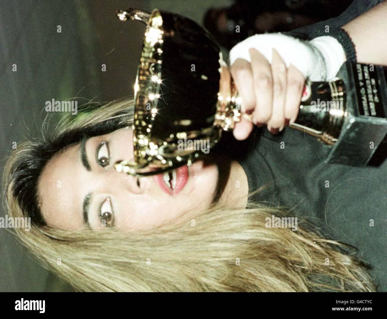 Boxeo Femenino ganador 2 Imagen De Stock