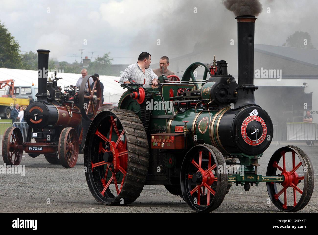 Expositores en la Feria Steam & Country en Ballymena Showgrounds. Foto de stock