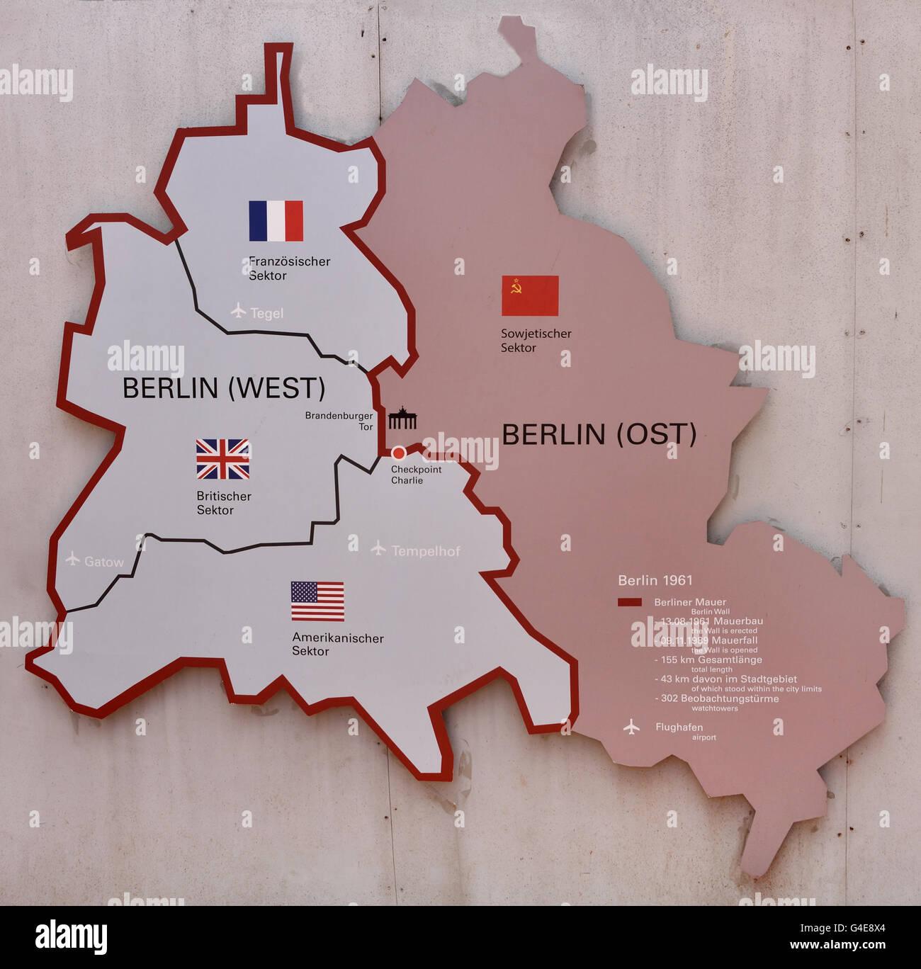 La ciudad alemana de Berlín Checkpoint Charlie Checkpoint ( C ) Friedrichstrasse fue el Muro de Berlín, Imagen De Stock