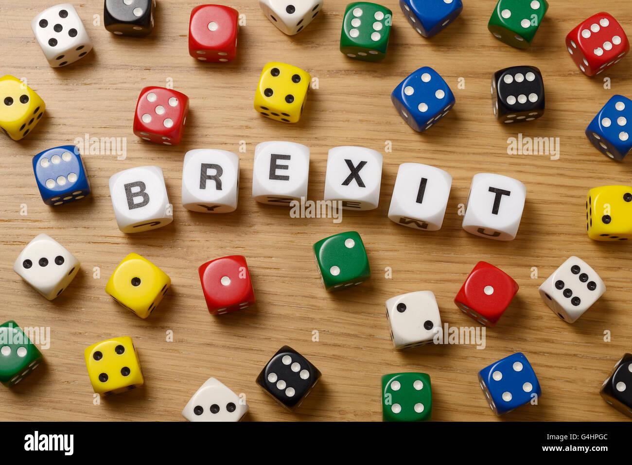 Still life studio imagen concepto para el Reino Unido del referéndum sobre la adhesión a la UE Imagen De Stock
