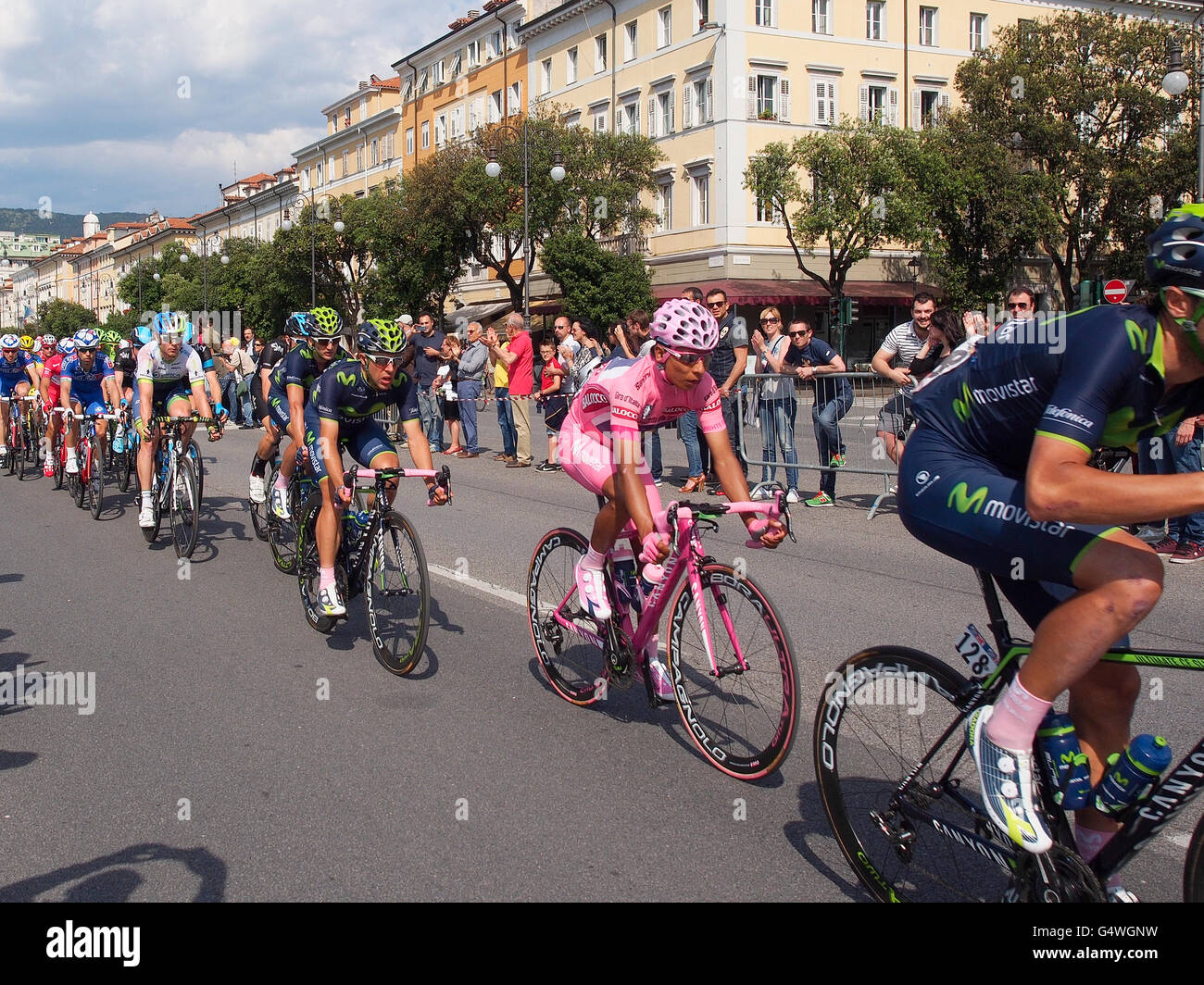 Quintana, el ganador de la 97ª edición del Giro d'Italia, en la acción en la etapa final vistiendo Imagen De Stock
