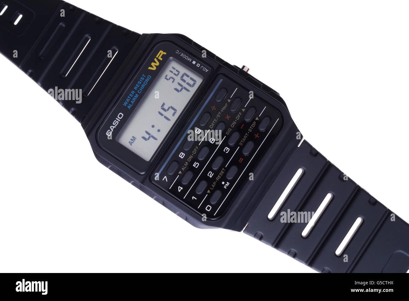 Reloj Casio databank CA-53 W-1Z icono de los 80's Imagen De Stock