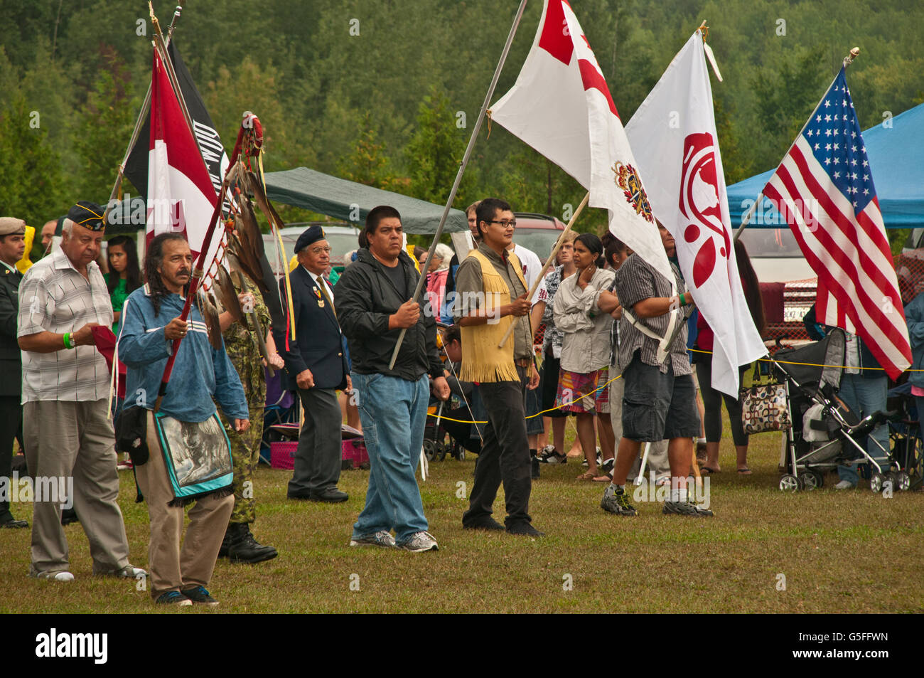 América del Norte, Canadá, Ontario, Bruce Península, Cabo Croker Primera Nación Pow-Wow Cultural Foto de stock