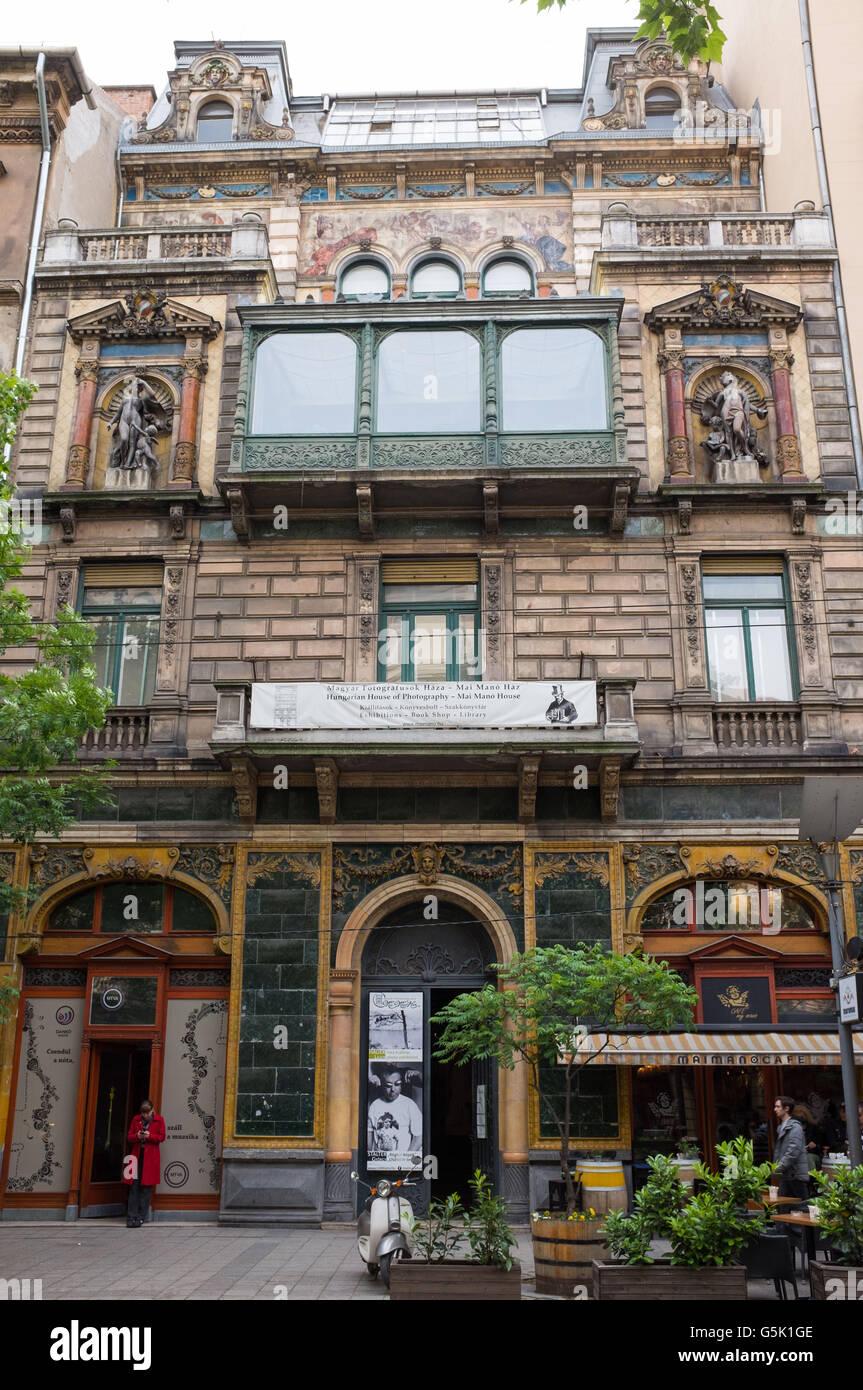 Mai Manó Casa en Budapest,Hungría Imagen De Stock