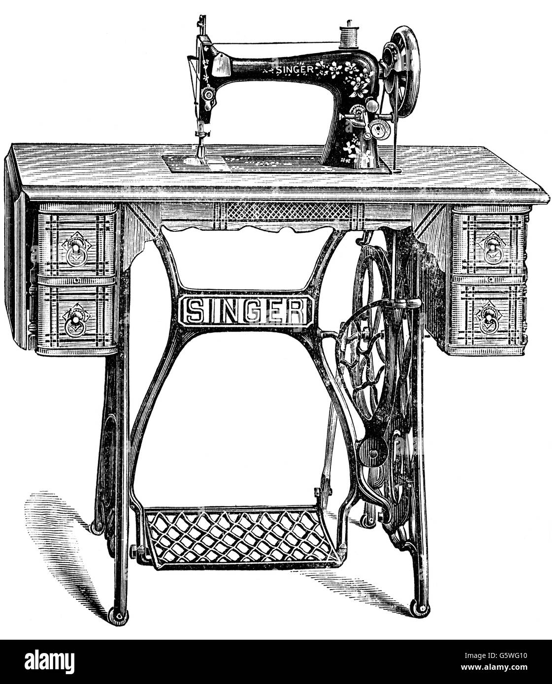 Singer Treadle Sewing Imágenes De Stock & Singer Treadle Sewing ...