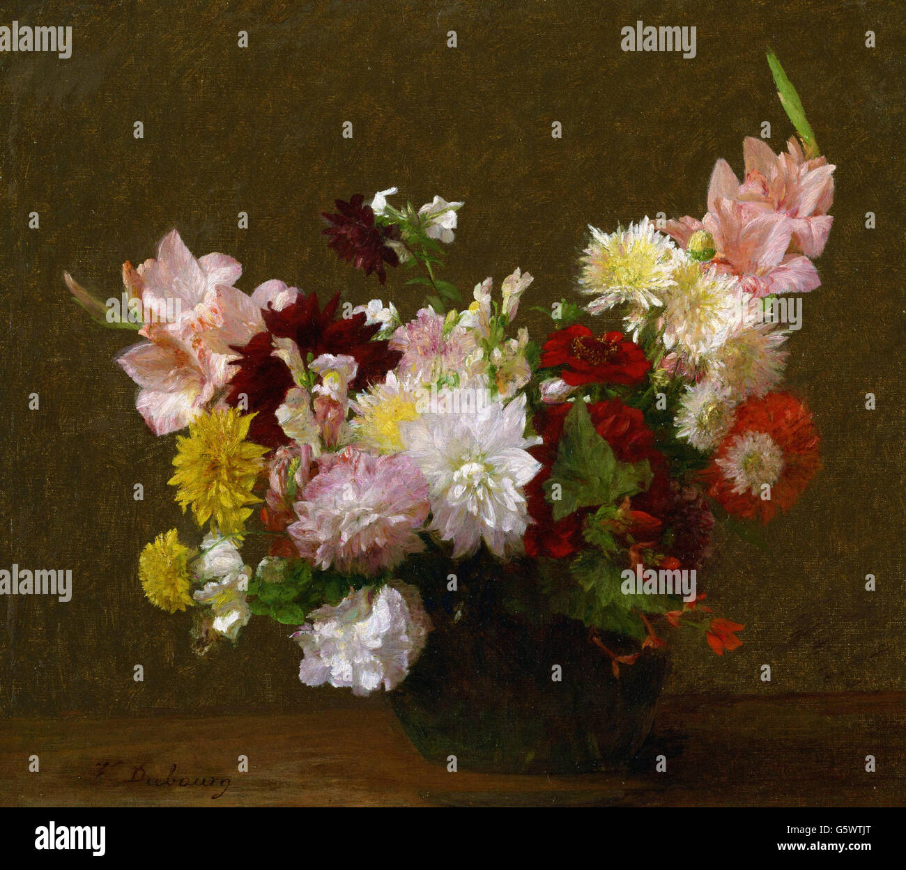 Victoria Dubourg (Fantin-Latour) - Flores - Imagen De Stock