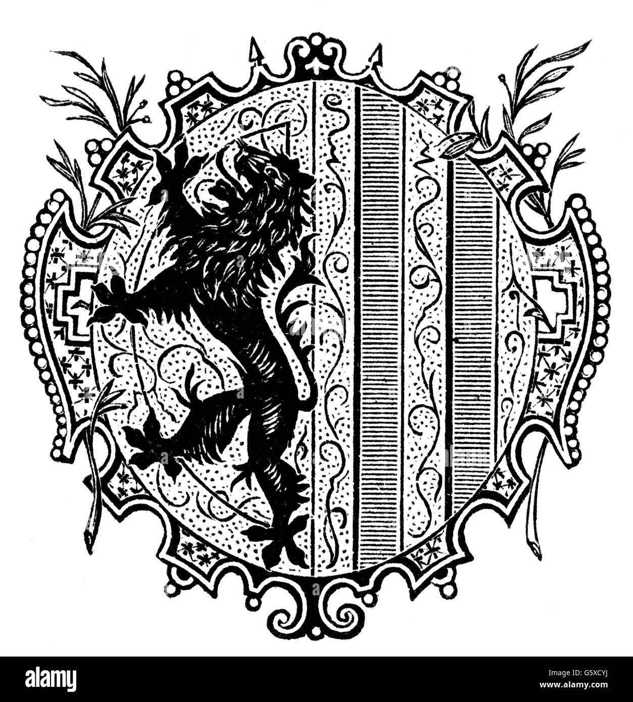 Heraldica Escudo De Armas Alemania Armas De La Ciudad Leipzig Grabado En Madera 1892 Derechos Adicionales Clearences No Disponible Fotografia De Stock Alamy
