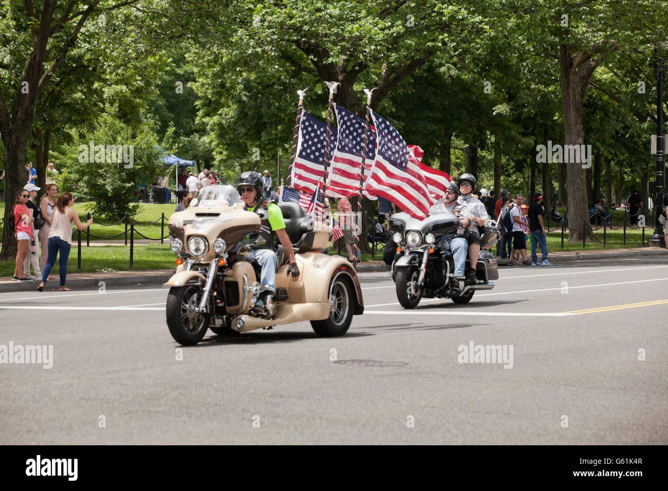 Los participantes de Rolling Thunder, el fin de semana de Memorial Day 2016 - Washington, DC, EE.UU. Imagen De Stock