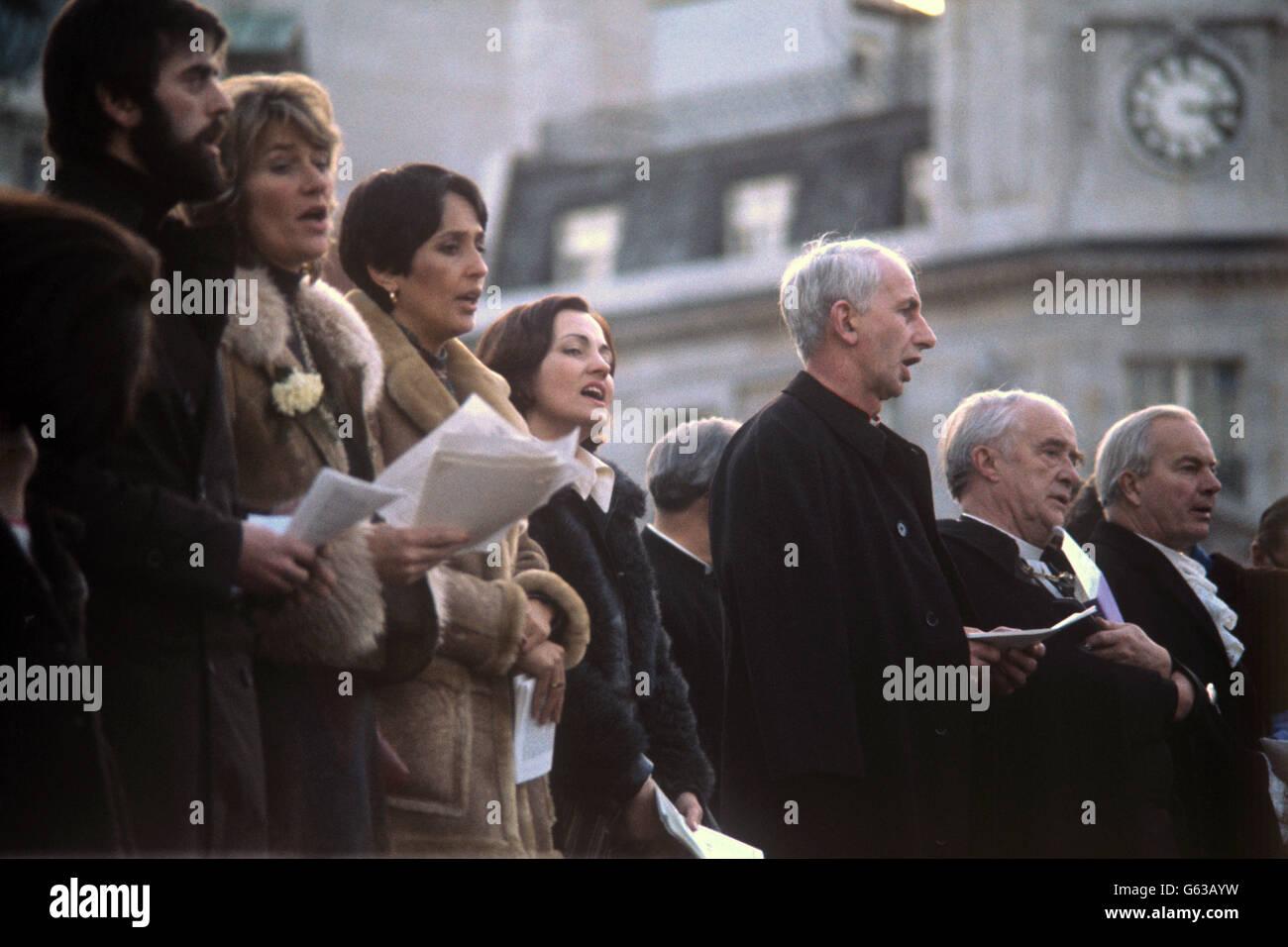 Política - los problemas - movimiento de paz de Irlanda del Norte - Trafalgar Square, Londres Imagen De Stock