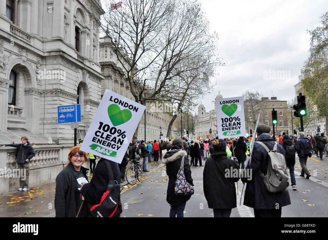 Manifestación contra el daño al medio ambiente Imagen De Stock