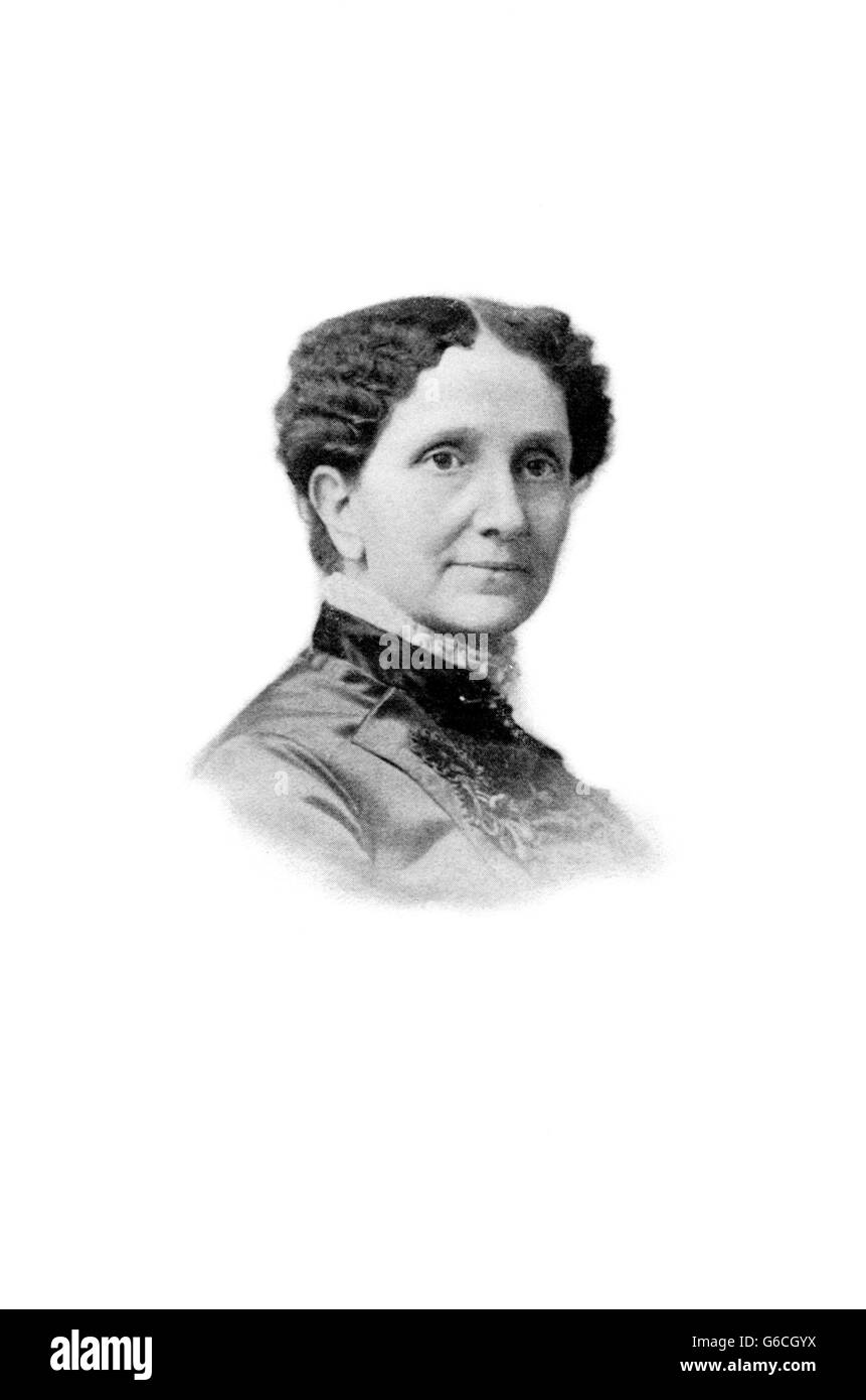 1880 Retrato de Mary Baker Eddy fundadora de la Christian Science Church Imagen De Stock