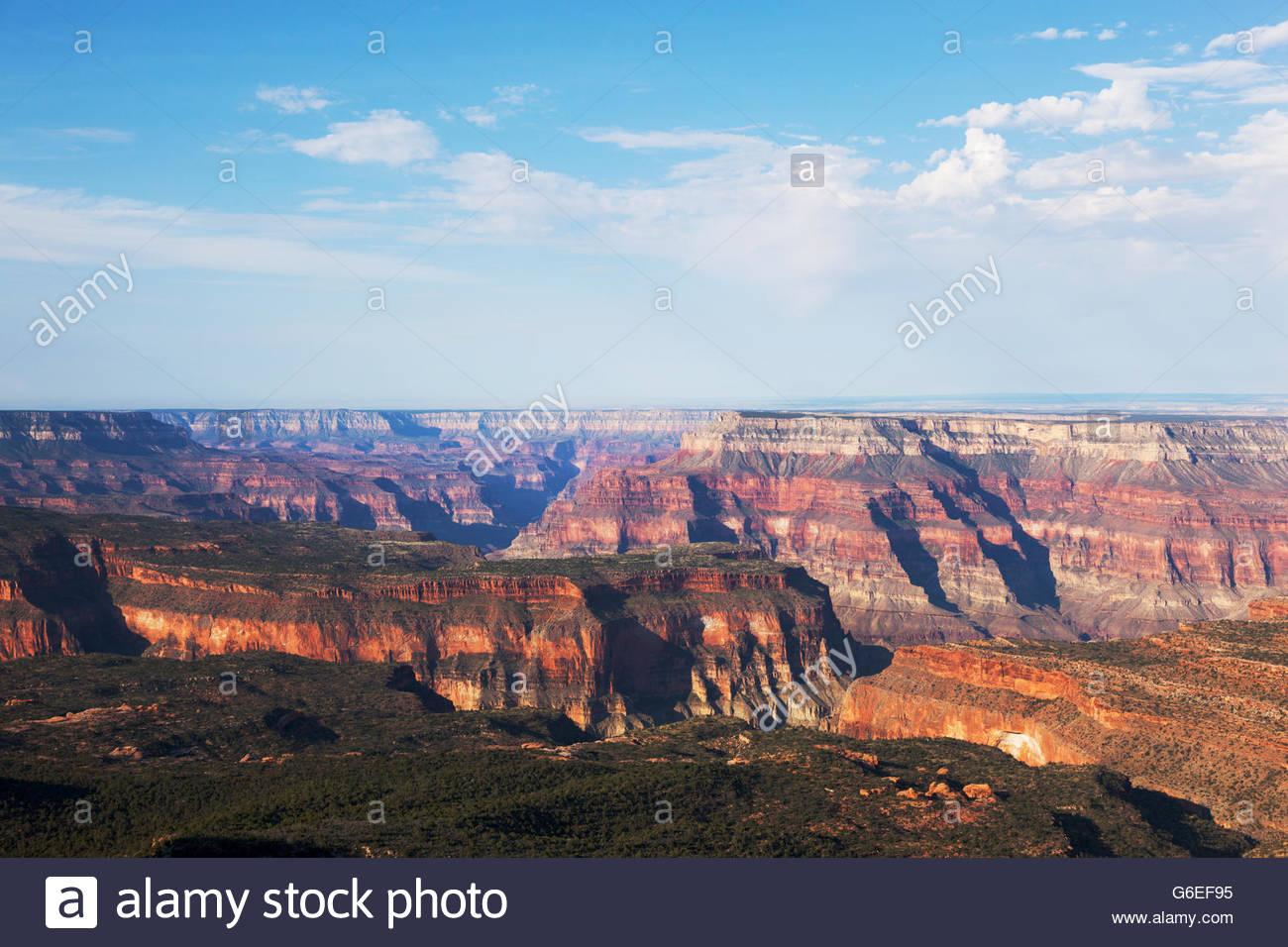 Desde el punto de vista de la jarra loca borde norte del Parque Nacional Gran Cañón en Arizona Imagen De Stock