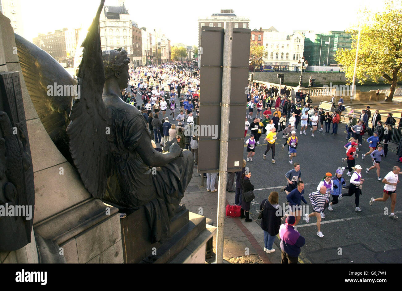 Maratón de Dublín Foto de stock