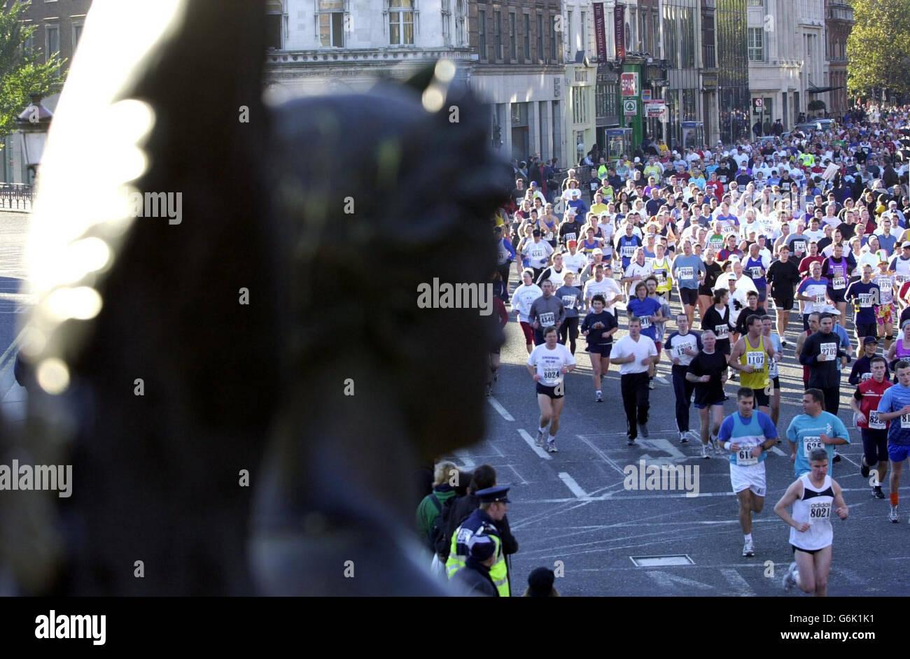 2003 maratón de Dublín Foto de stock