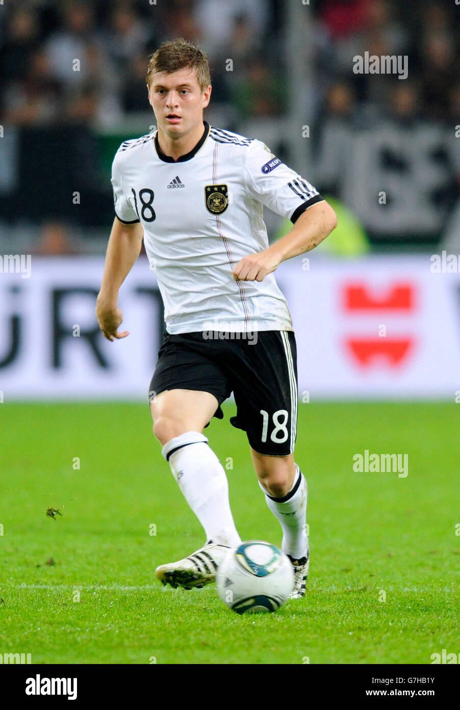 Toni Kroos, Alemania, calificación de fútbol coinciden con el campeonato europeo de la UEFA 2012, Alemania Imagen De Stock