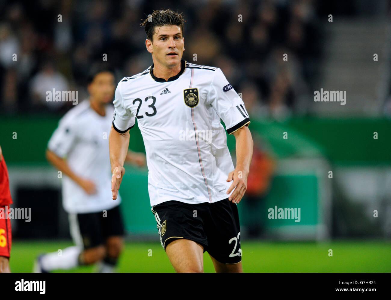 Mario Gomez, Alemania, calificación de fútbol coinciden con el campeonato europeo de la UEFA 2012, Alemania Imagen De Stock
