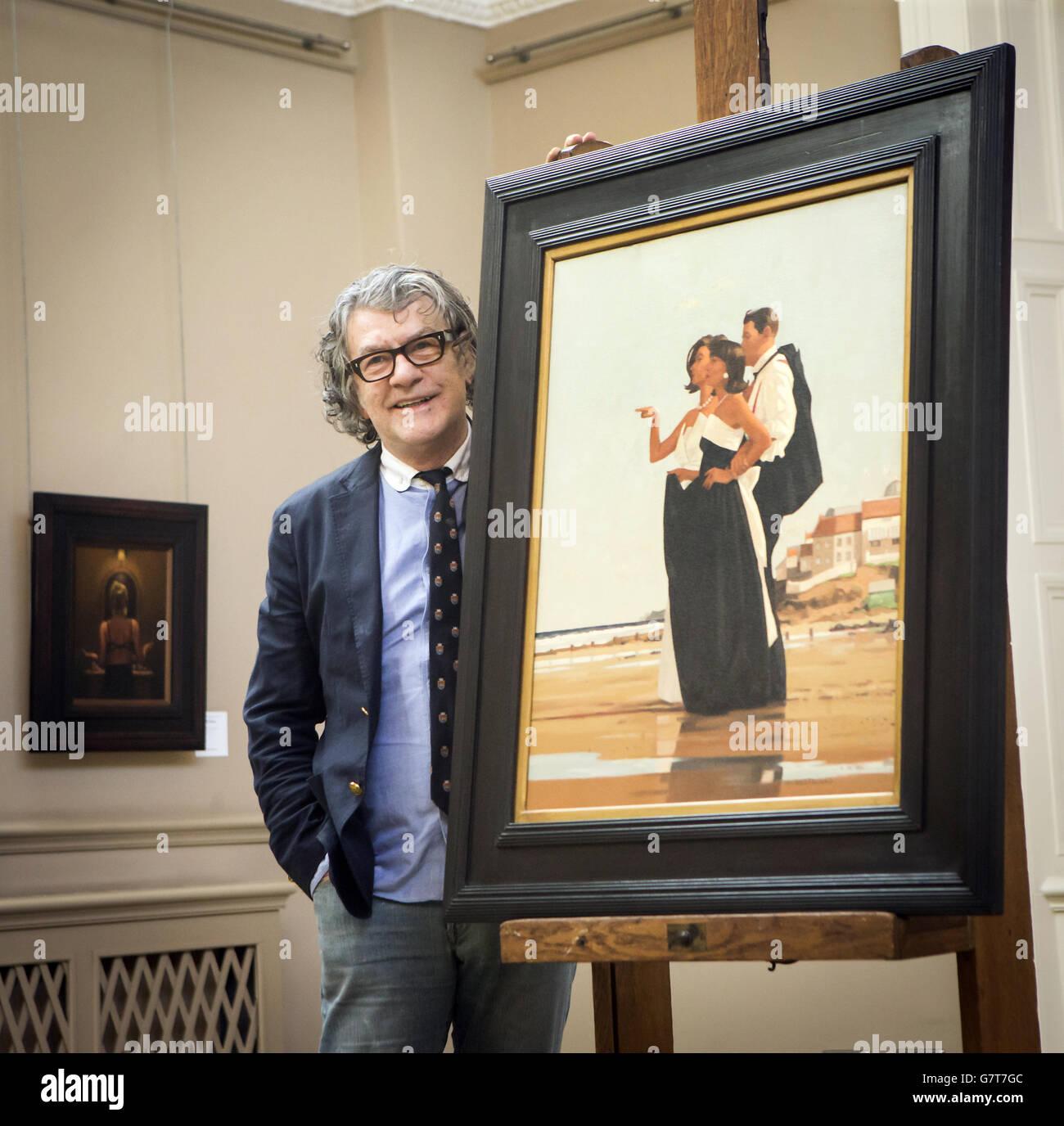 150,000, parte de una colección privada de sus pinturas en las subastas de Bonhams en Edimburgo. Foto de stock