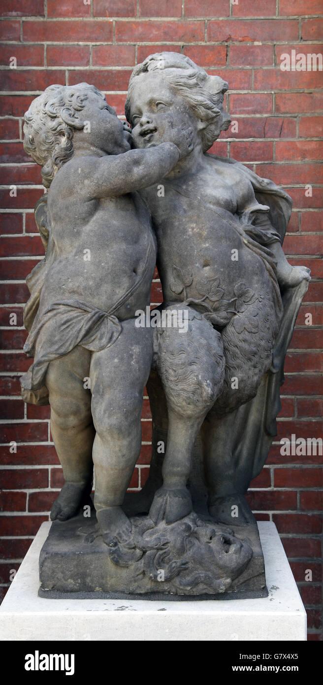 Amor y Odio Jan Pieter van Baurscheit 1669-1728 Imagen De Stock