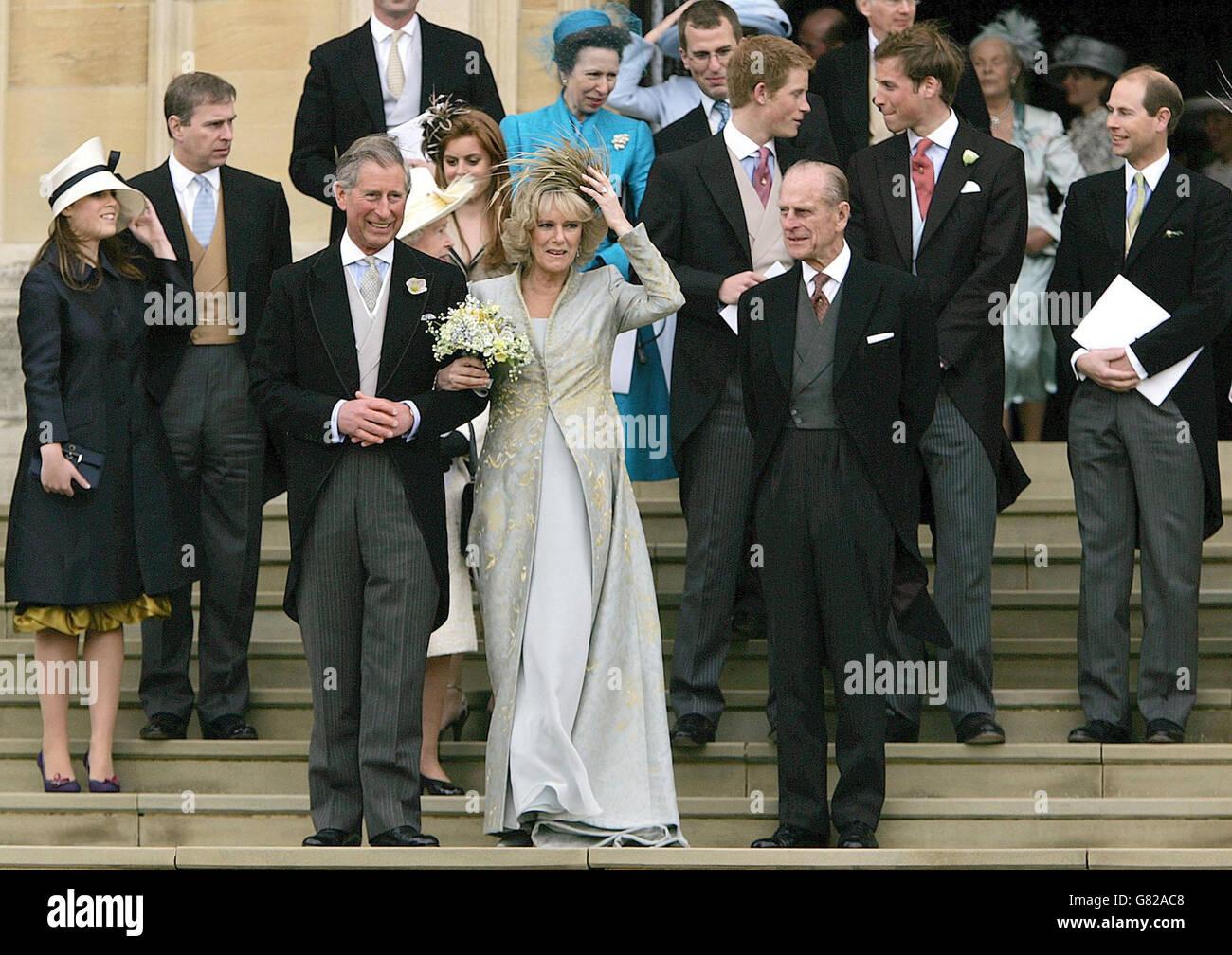 Boda Real El Matrimonio Del Principe Carlos Y Camila Parker Bowles Servicio De Oracion Y Dedicacion St George S Chapel Fotografia De Stock Alamy