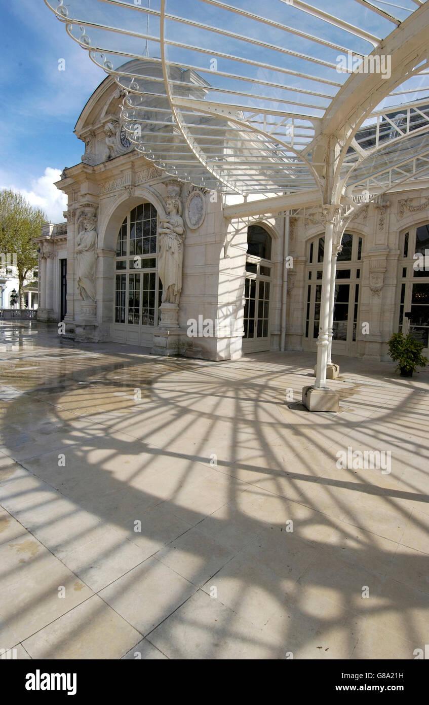 Grand Casino Opera, Allier, Vichy, Auvergne, Francia, Europa Foto de stock