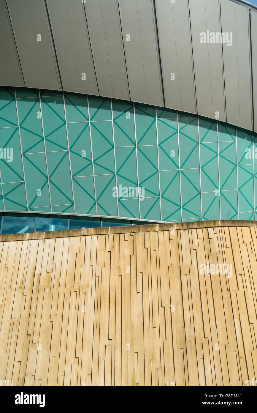 Las texturas de los materiales de construcción Echo Arena Liverpool Albert Dock UK Imagen De Stock