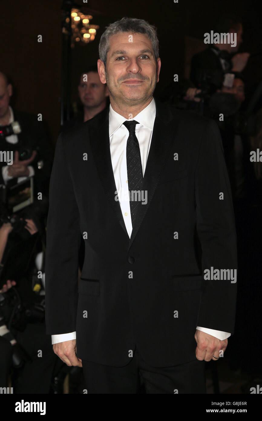 Terry Mynott asiste a los Premios de Cine Círculo de la Crítica de Londres en el May Fair Hotel, en el centro de Londres. PRENSA FOTO DE ASOCIACIÓN. Fecha de la foto: Domingo 17th enero, 2016. Ver la historia de PA SHOWBIZ Critics. El crédito de la foto debe ser: Jonathan Brady/PA Wire. Foto de stock