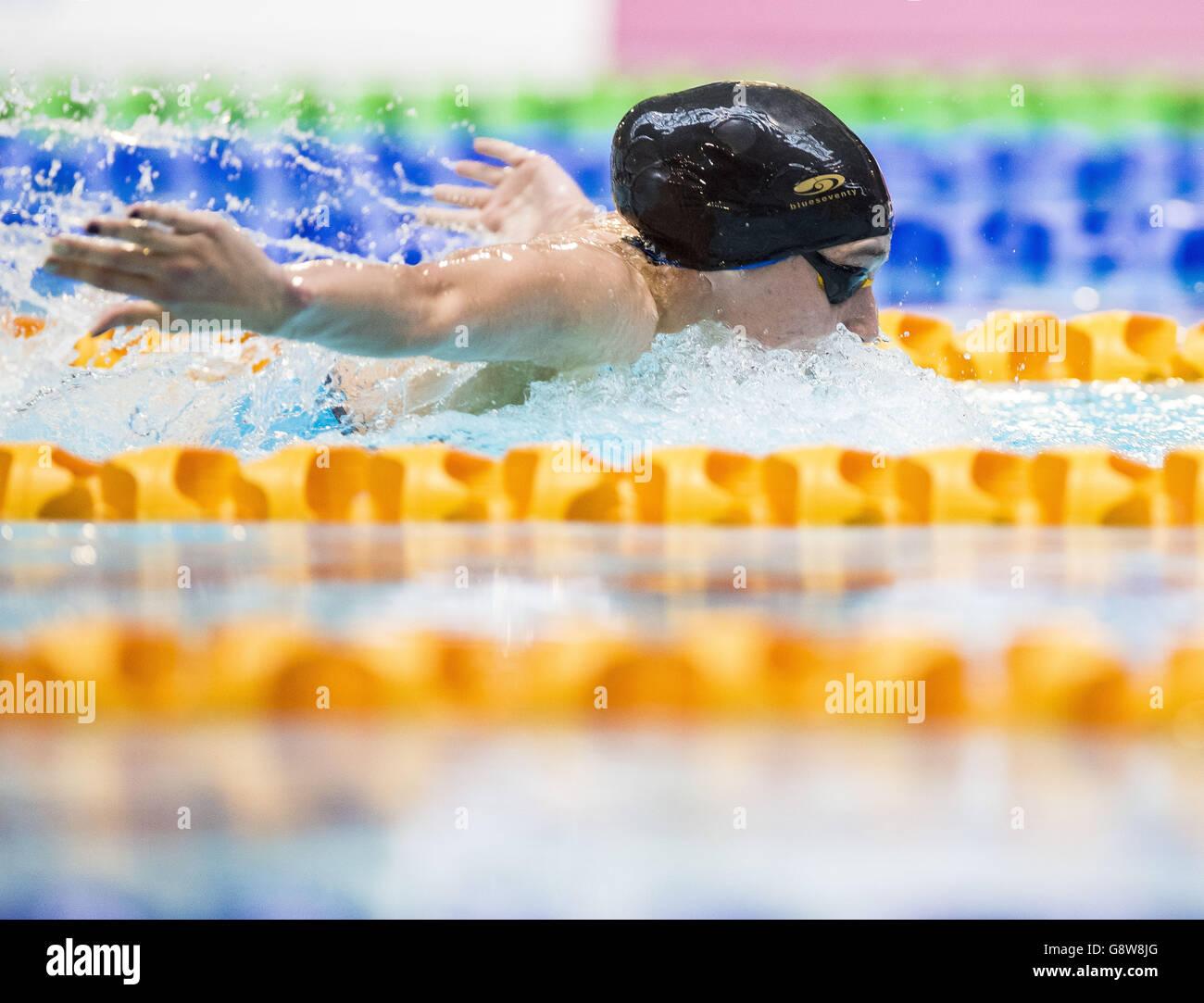Campeonatos de natación británica - Día 3 - Tollcross Centro Internacional de Natación Imagen De Stock